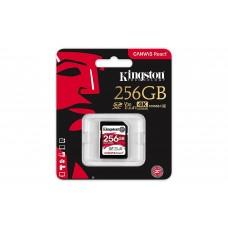 Memory card  Kingston Canvas React, 256GB, Class 10 UHS-I U3