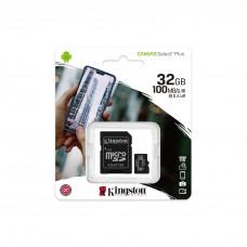 Memory card Kingston Canvas Select Plus  microSDHC 32GB, Class 10 UHS-I