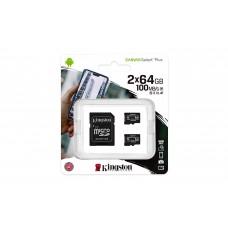 Memory card Kingston Canvas Select Plus Multi pack 2 x microSDHC 64GB, Class 10 UHS-I