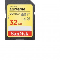 Memory card  SANDISK Extreme SDHC, 32GB, UHS-1,Class 10, U3, V30, 90 Mb/s