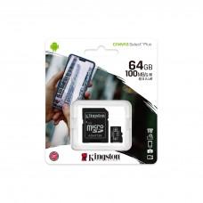 Memory card Kingston Canvas Select Plus  microSDHC 64GB, Class 10 UHS-I