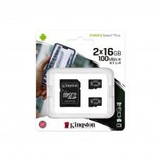 Memory card Kingston Canvas Select Plus Multi pack 2 x microSDHC 16GB, Class 10 UHS-I