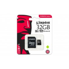 Memory card Kingston Canvas Select micro SDHC UHS-I, 32GB, Class 10