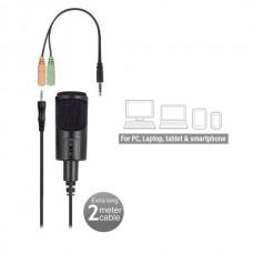 Desktop Microphone EWENT EW3550, Noise canceling, Black