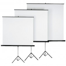 Tripod Projection Screen HAMA 18790, 125 x 125, 1:1, White