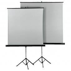 Tripod Projection Screen HAMA 18792, 125 x 125, 1:1, Duo