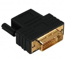 Adapter HAMA 122237 DVI-D Dual Link Plug- HDMI Socket, Gold-plated, 3 Stars