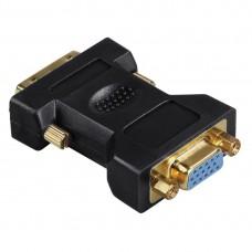 Adapter HAMA 45073 DVI plug - VGA socket, Gold-plated, 3 Stars