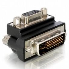 Adapter DeLock HD-15 (W) - DVI-I (M), 90°
