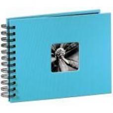"Spiral-Album ""Fine Art"", 24 x 17 cm for 50 pfotos, Turquoise"