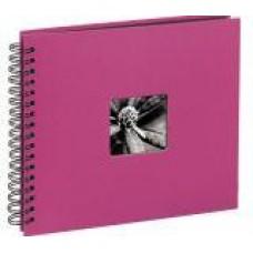 """Spiral-Album """"Fine Art"""", 28 x 24 cm for 100 pfotos, Pink"""
