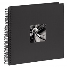 """Spiral-Album """"Fine Art"""", 28 x 24 cm for 50 pfotos, black"""