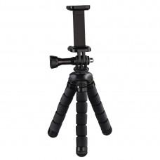 """Hama """"Flex"""" Mini-Tripod for Smartphone and GoPro, 14 cm, black"""