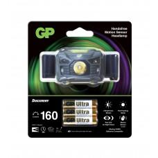 Headlamp / Lantern with light GP BATTERIES CH34  Premium Range with 3 batteries AAA 160 lumens