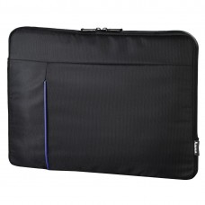 """Hama """"Cape Town"""" Notebook Sleeve, up to 40 cm (15.6""""), black/blue"""