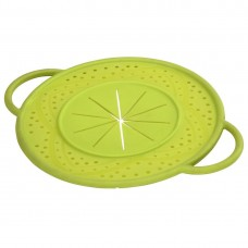 Boil Over Safeguard, made of silicone, round, 21 cm, green