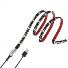 Hama USB LED Light Strip with Integrated Control Unit, RGB, 1 m, 12 Pcs. in Disp