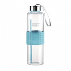 """Xavax """"Smooth Power"""" Glass Drinking Bottle, 0.5 l, turquoise"""