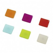 """Hama """"Square"""" Magnets, 6 pieces, white/green/blue/orange/pink/red"""