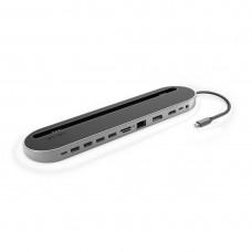 Hama 12-in-1 USB-C Docking Station for USB, HDMI™, DP, LAN, SD, microSD, Jack, Grey
