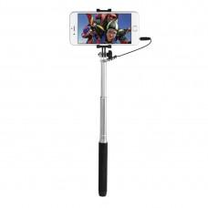 """Hama """"Color"""" Selfie Stick, black/blue/green, 3.5mm cable shutter release, 12 pcs"""